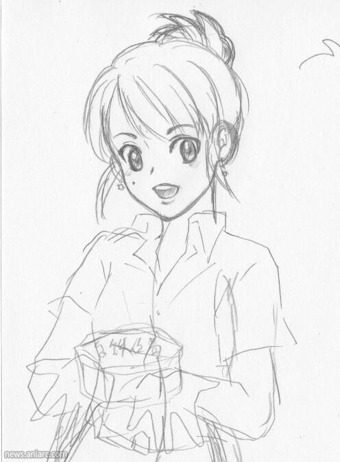 人物简笔画:准备去上课的女老师