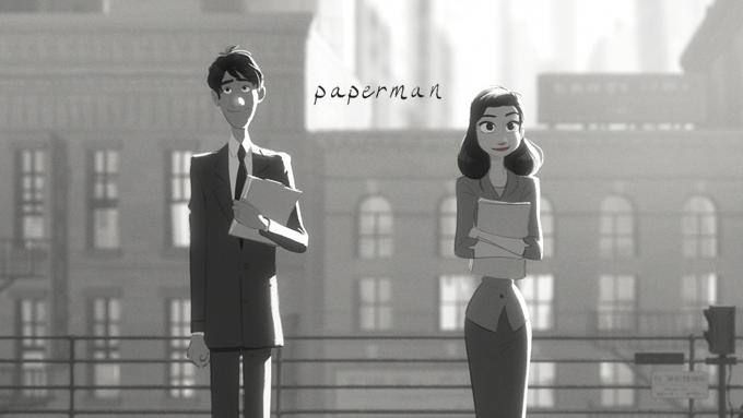 迪士尼《Paperman》入圍奧斯卡短片獎 3D仿2D新技術動畫